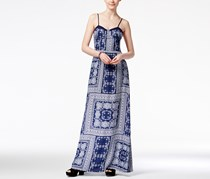 American Rag Women's Printed Maxi Dress, Navy