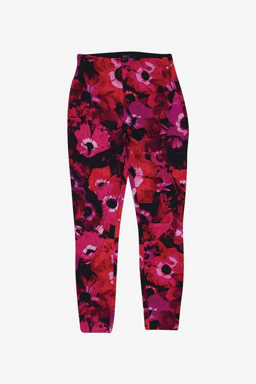 Women's  High Waist Tossed Pants, Floral