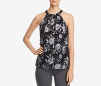 Le Gali Womens Iva Embroidered Sleeveless Blouse, Grey Combo