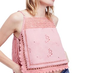 Free People Women's Garden Party Cami, Pink