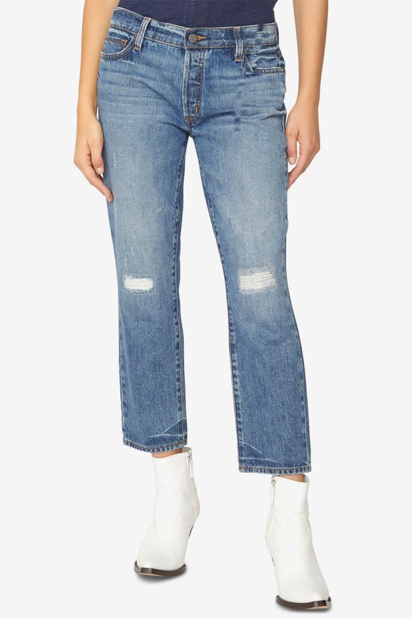 Women's Disrupt Rip Repair Boy Jeans, Blue