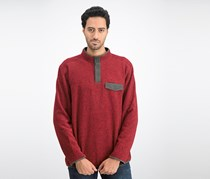 G.H. Bass & Co Men's Arctic Fleece Sweater, Rhubarb Heather