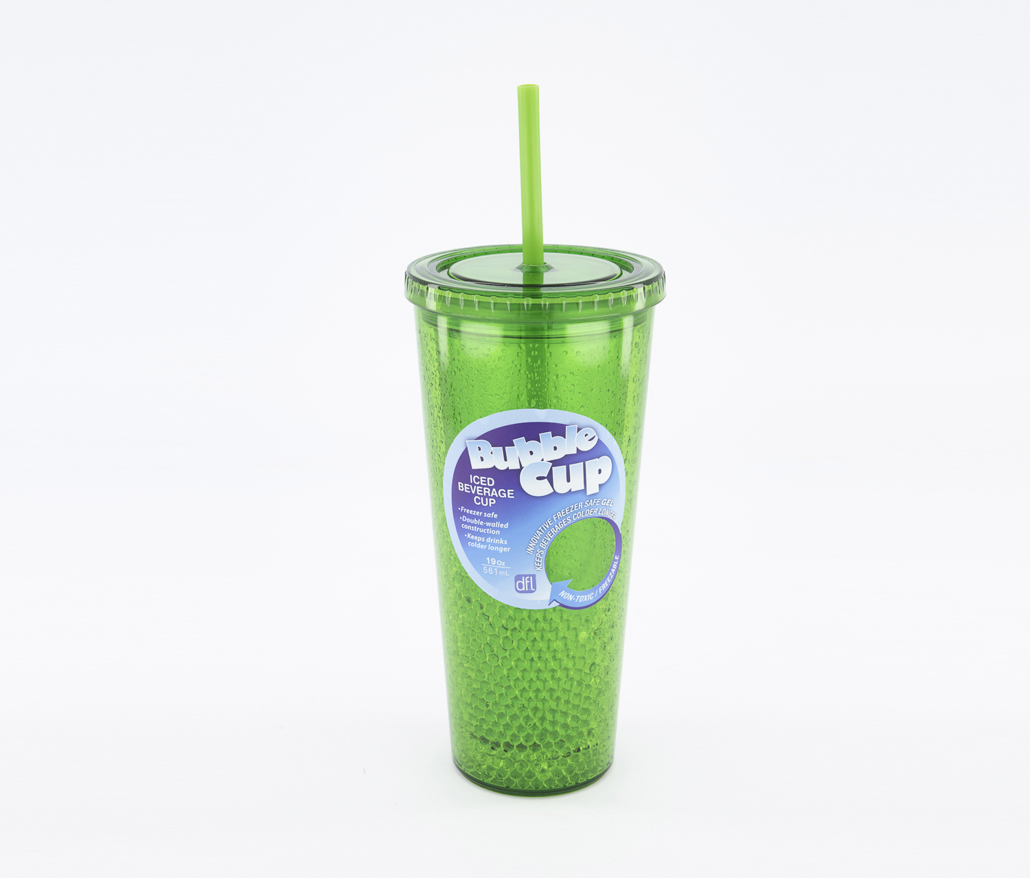 19 Oz Iced Beverage Bubble Cup, Green