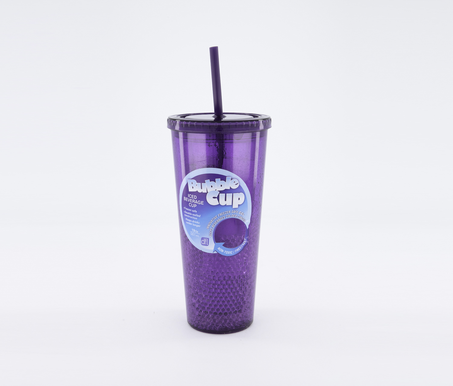 19 Oz Iced Beverage Bubble Cup, Purple