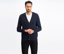Perry Ellis Men's Modal Cardigan, Dark Navy