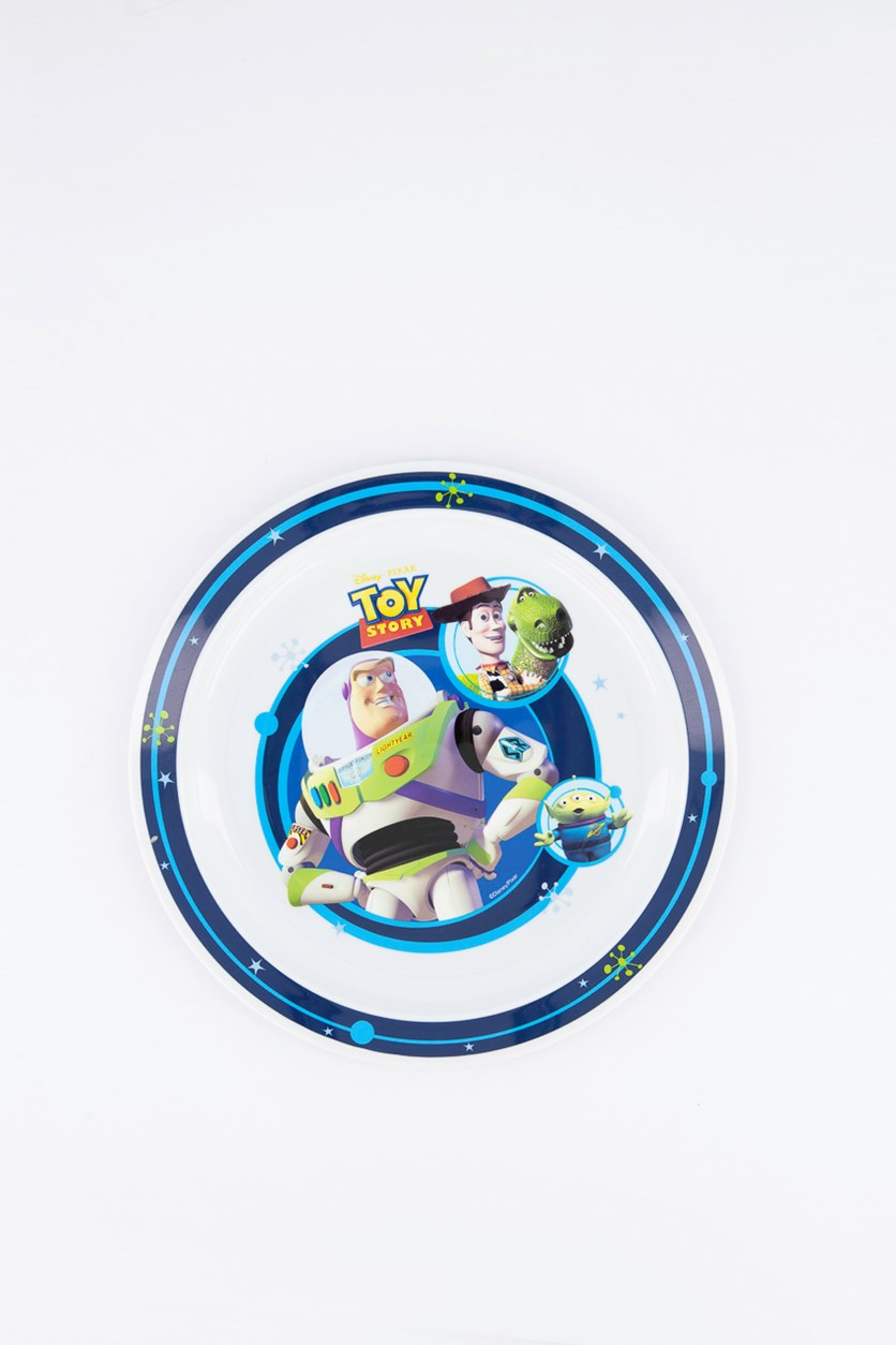Toy Story Buzz Polly Plate, White/Blue Combo