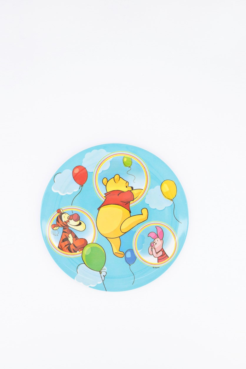 Winnie The Pooh Balloon Standard Coupe Plate, Blue Combo