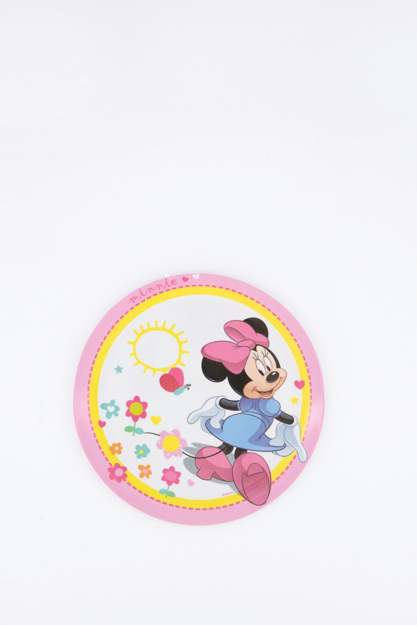Minnie Favorites Standard Coupe Plate, Pink/White Combo