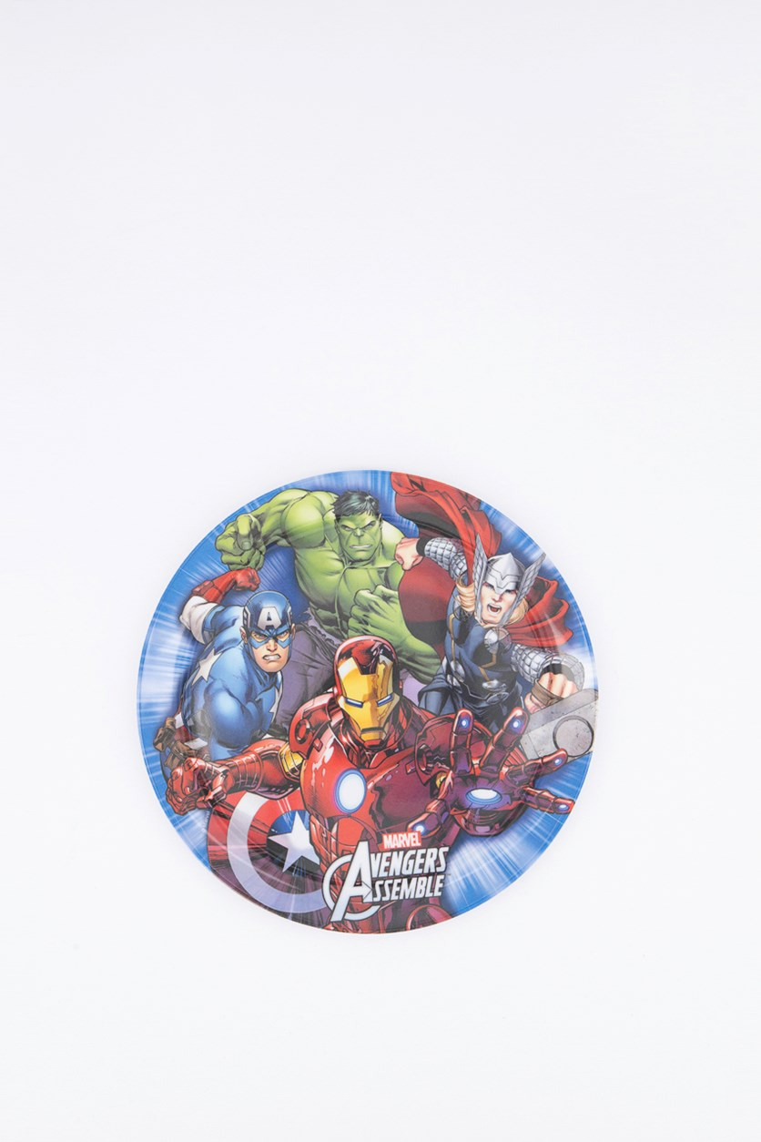 Avengers Mighty Standard Coupe Plate, Blue/Red Combo