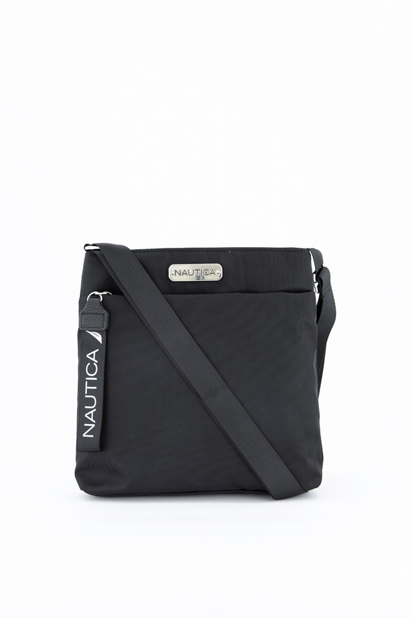 Driver- Nylon Mini Cross Body Strap Bag, Black