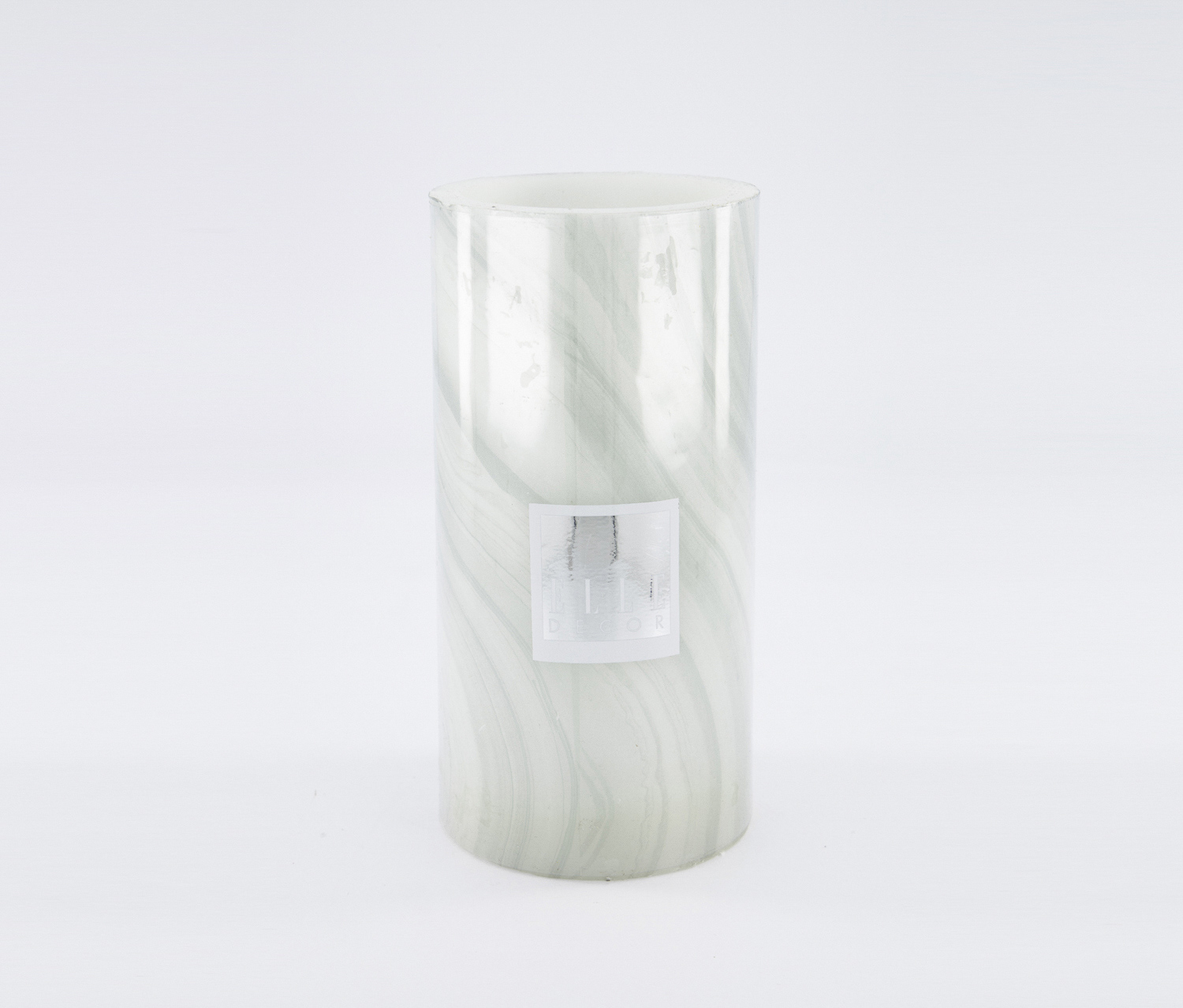 Marble Pillar LED Candle ''4 x 8