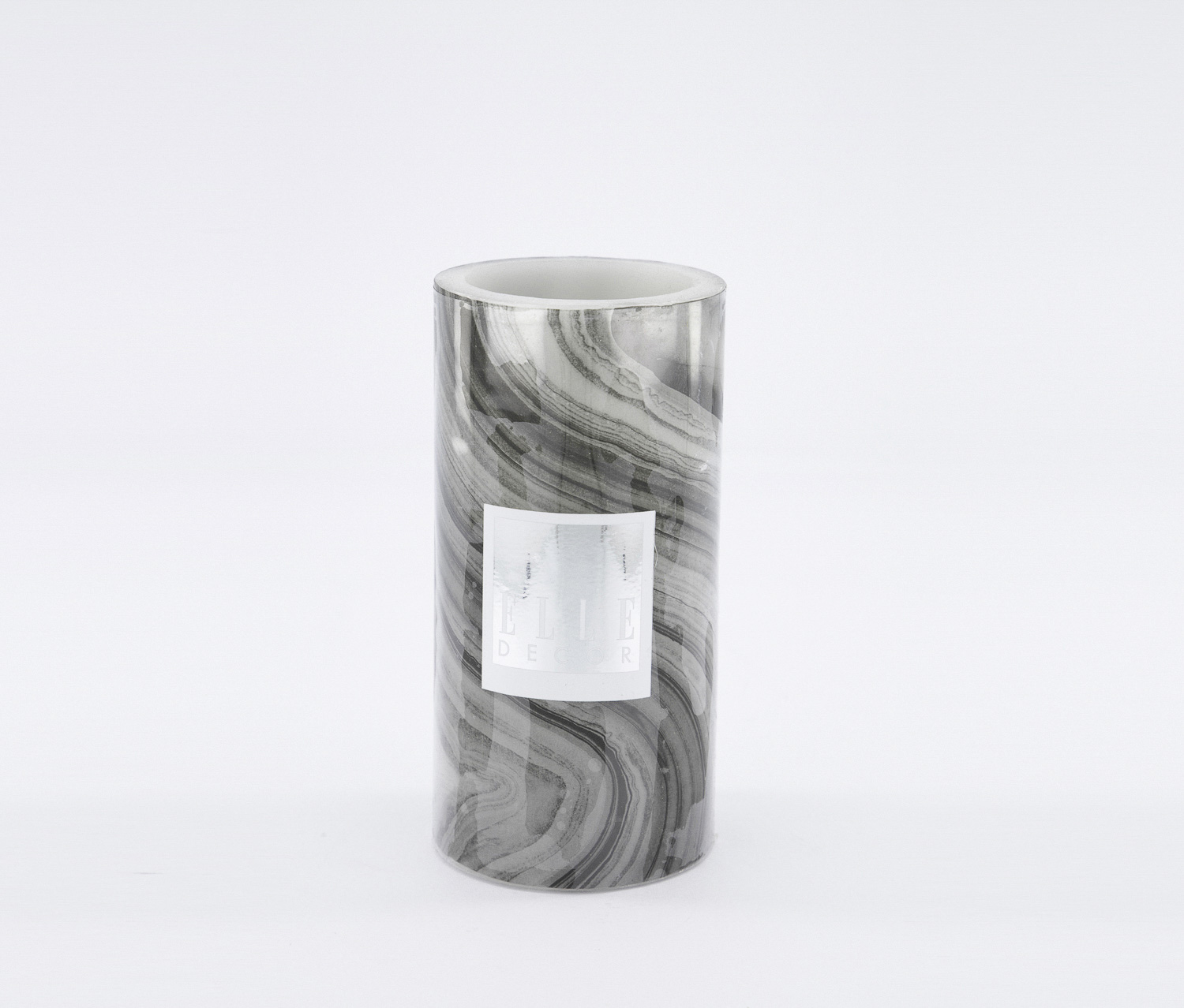 Marble Pillar LED Candle, Black