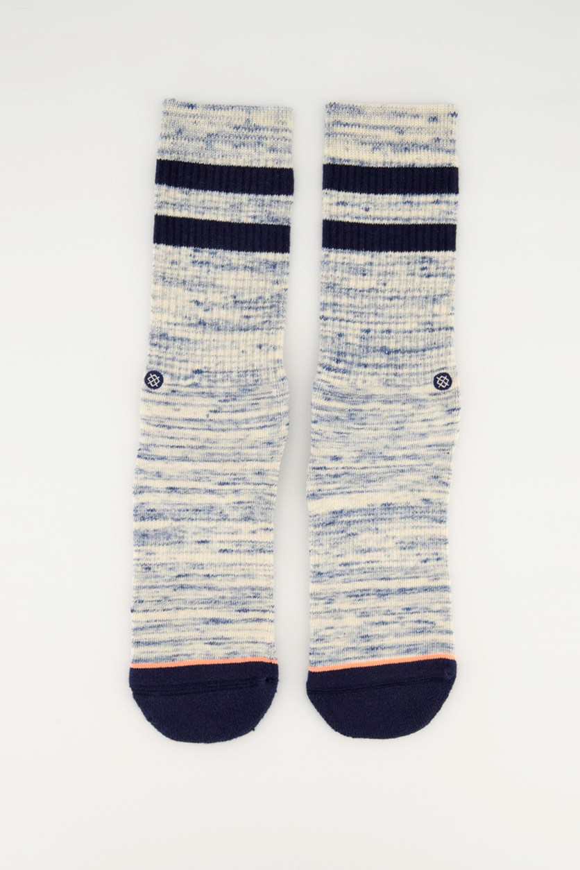 Women's Plain Jane Classic Crew  Socks, Navy Combo