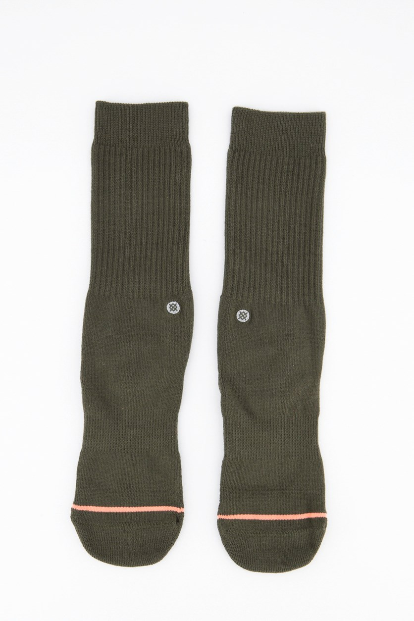 Women's Uncommon Classic Crew Socks, Green