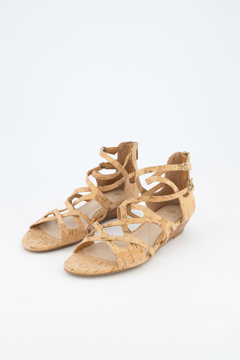 Women's Esmerilda Wedge Sandal, Natural