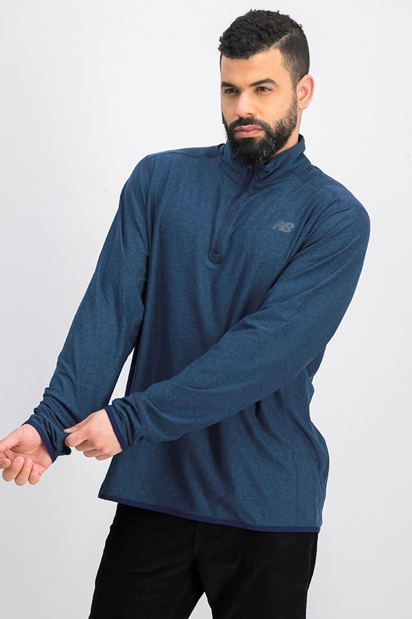 Men's Transit Quarter Zip Jackets, Navy