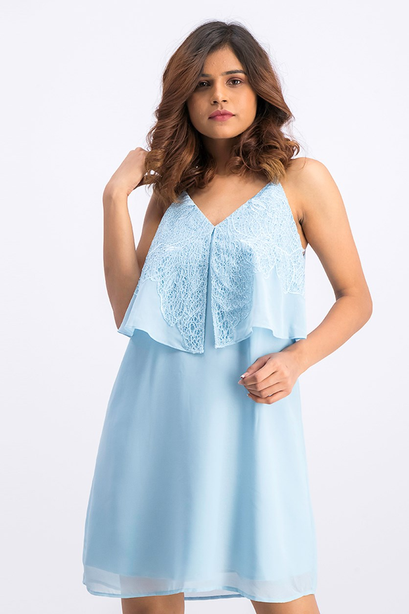 Women's Sleeveless Catava Dress, Light Blue