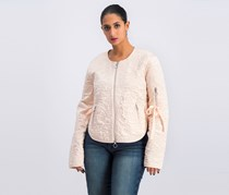 Guess Women's Embroidered Jacket, Peach