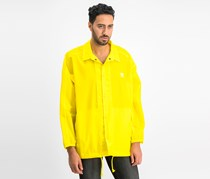 Adidas Men's Trefoil Adicolor Coach's Jacket, Yellow