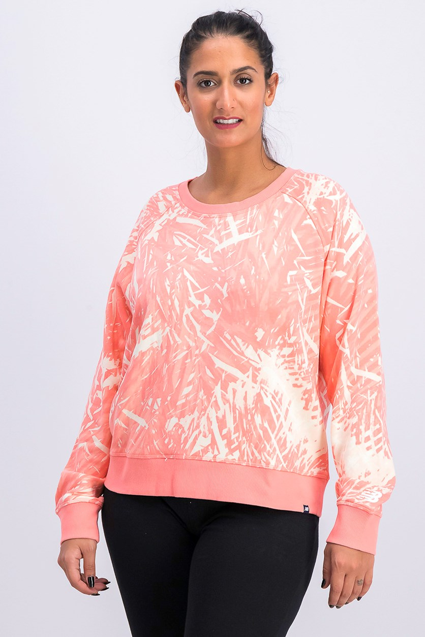 Women's Essentials Novelty Crew Sweater, Pink