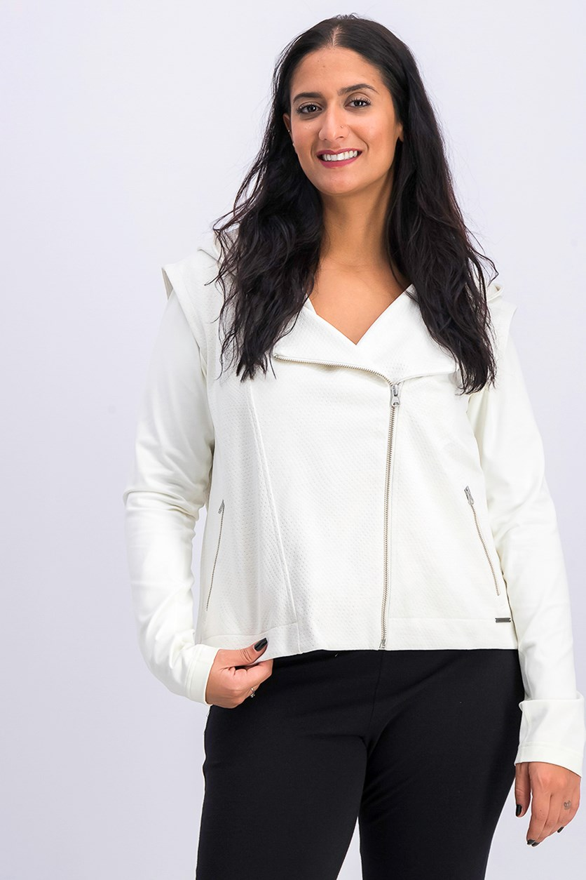 Women's Evolve Jacket, White/Beige