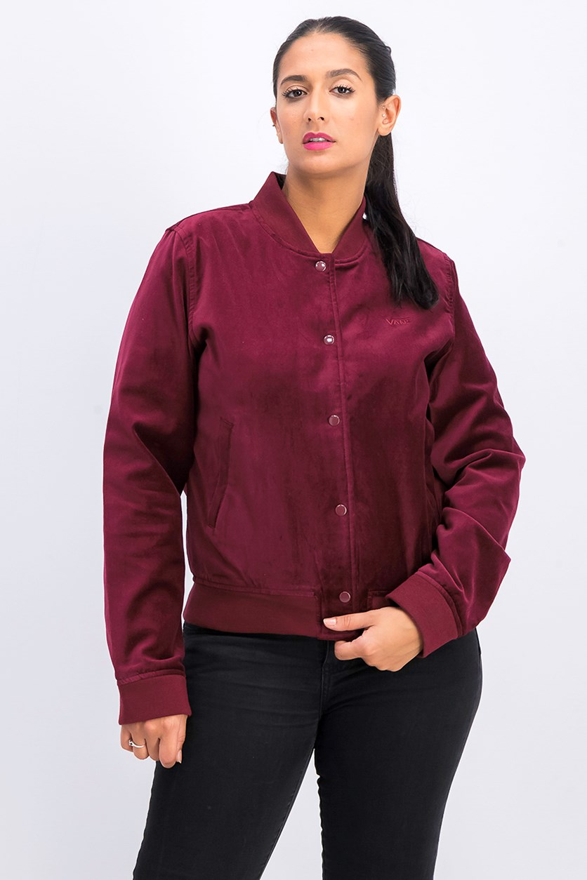 Women's Uptown Jacket, Burgundy