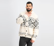 Lucky Brand Men's Shawl-Collar Cardigan, Ivory