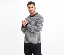 Wool Sweater, Black Combo