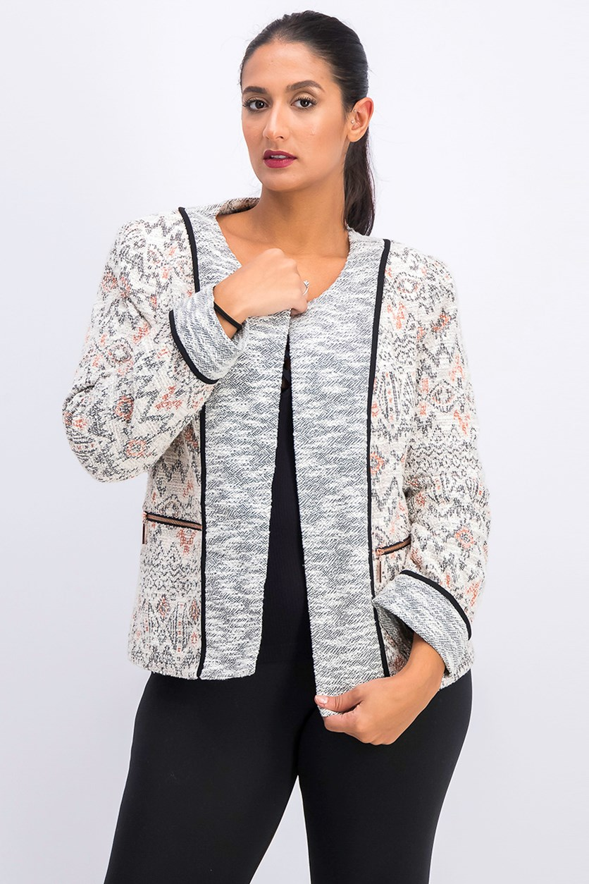 Women's Henna Tweed Jacket, Georgia Peach