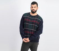 Weatherproof Vintage Men's Holiday Tartan Sweater, Navy