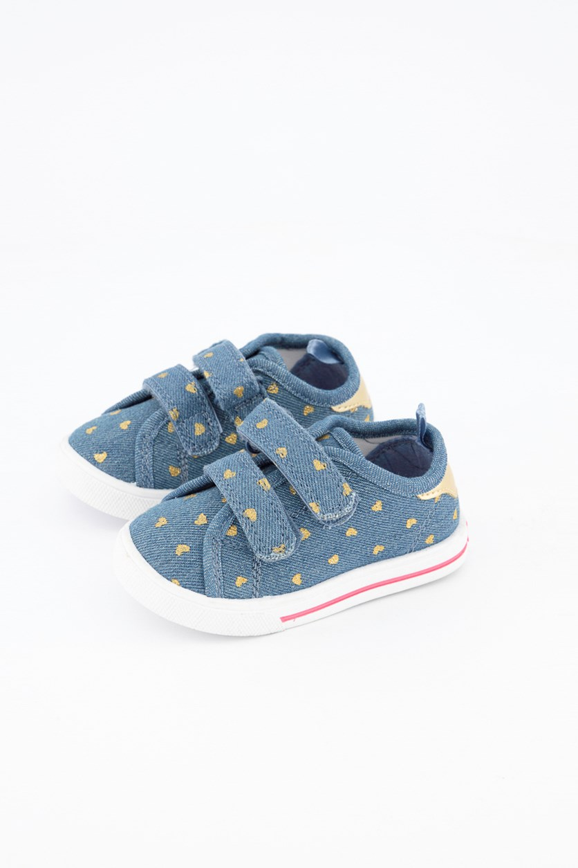 Toddler Girl's Nikki3 Heart Shoes, Blue Denim