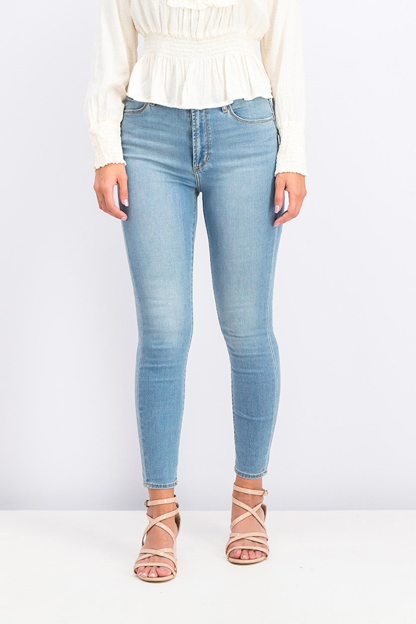 Women's High-Rise Ankle Skinny Jeans, Monaco