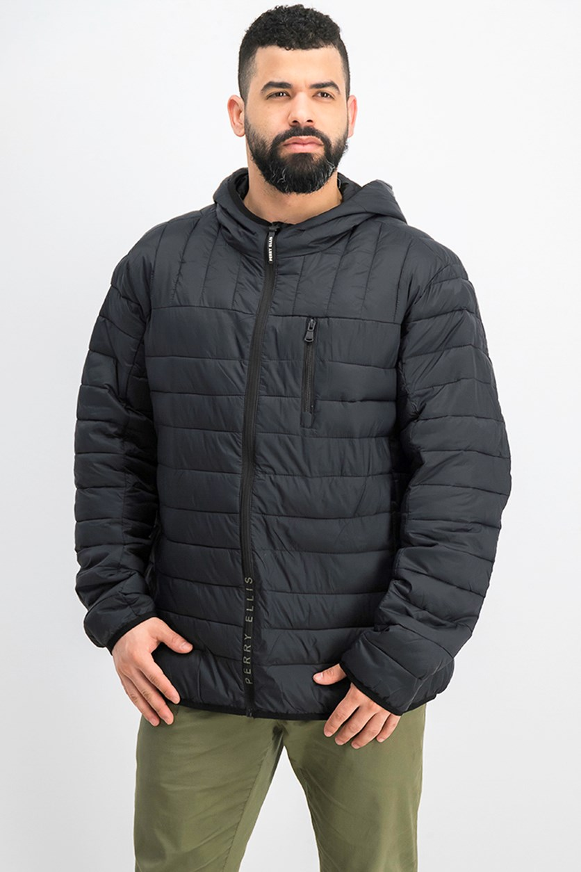 Men Packable Jacket, Black