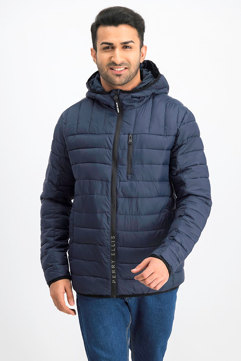 Men Packable Jacket, Dark Sapphire