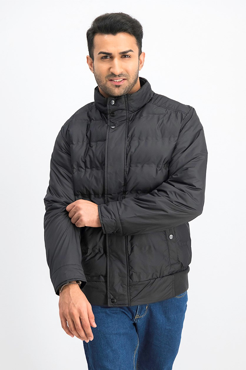 Men Puffer Jacket, Black