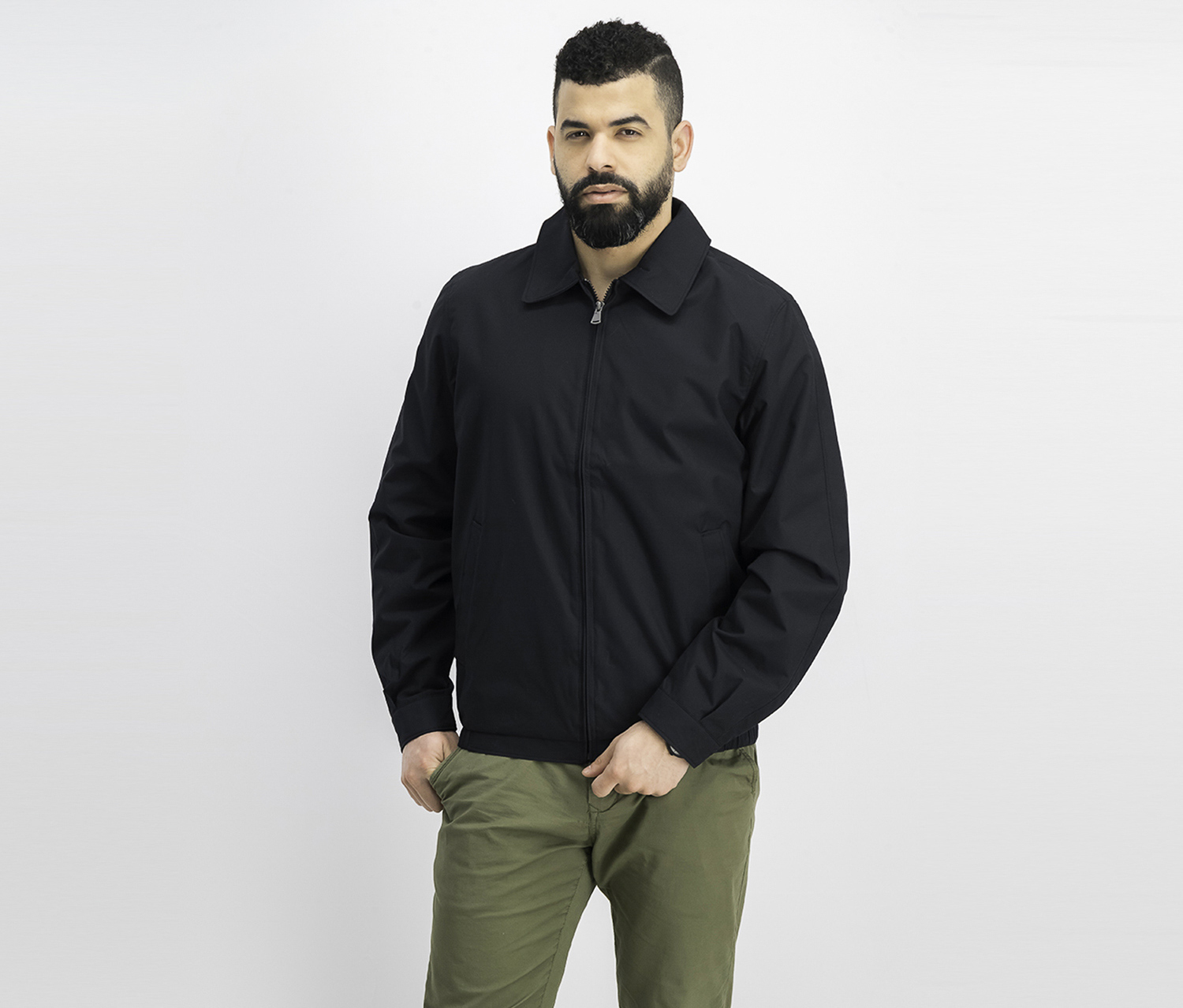 Men Microfiber Jacket, Black