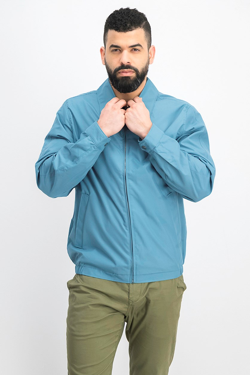 Men Microfiber Jacket, Slate Blue