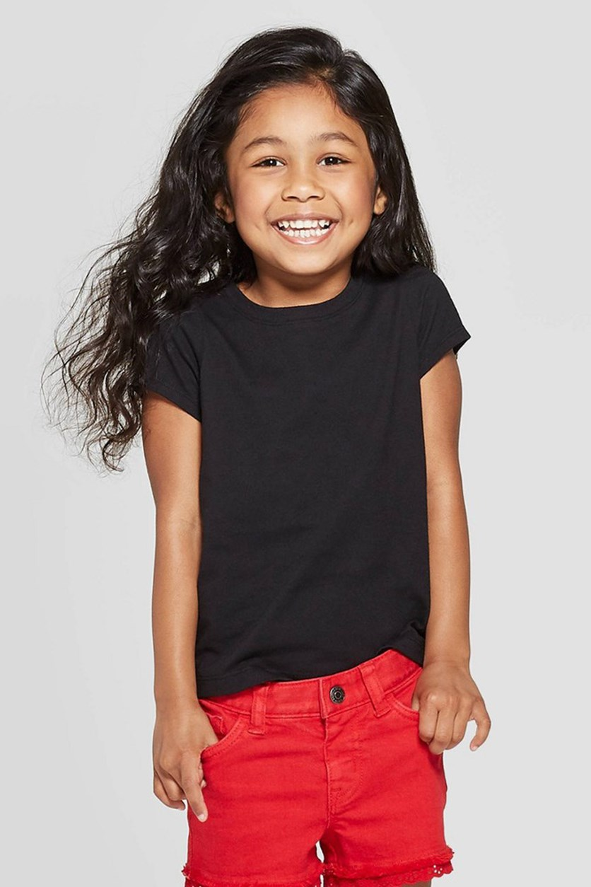 Toddlers Girls Tops, Black
