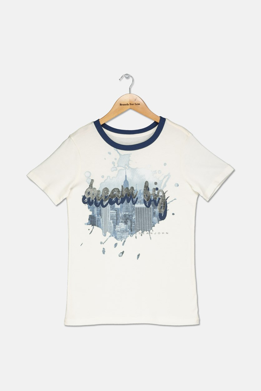 Graphic-Print T-Shirt, Off White