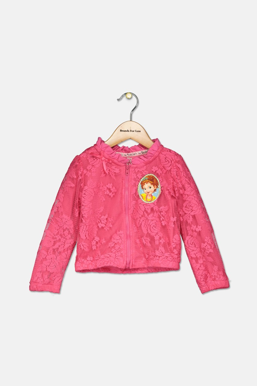 Little Girls Fancy Nancy Lace Jacket, Pink