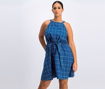 A New Day Women's Check Dress, Blue
