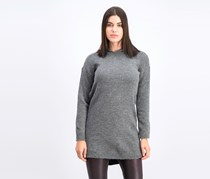 Women's Knitted Hoodie Sweater, Charcoal