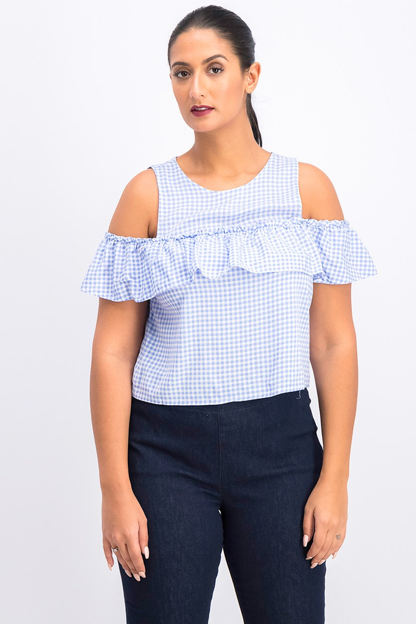 Women's Tops, Blue/White