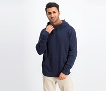 ATM Anthony Thomas Melillo Men's French Terry Pullover Hoodie Jacket, Navy