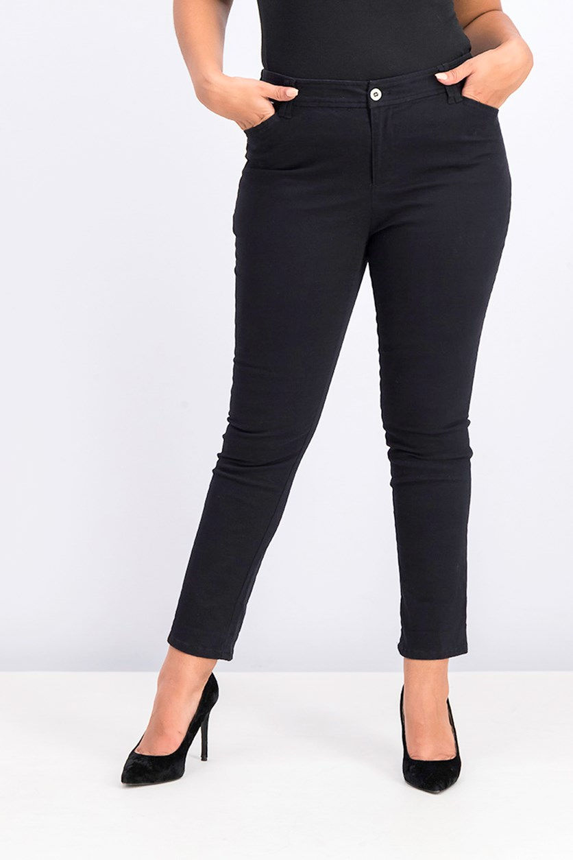 Women's Petites Work Pants, Black