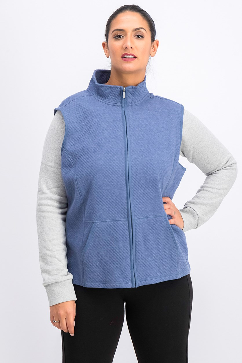 Quilted Vest, Heather Indigo