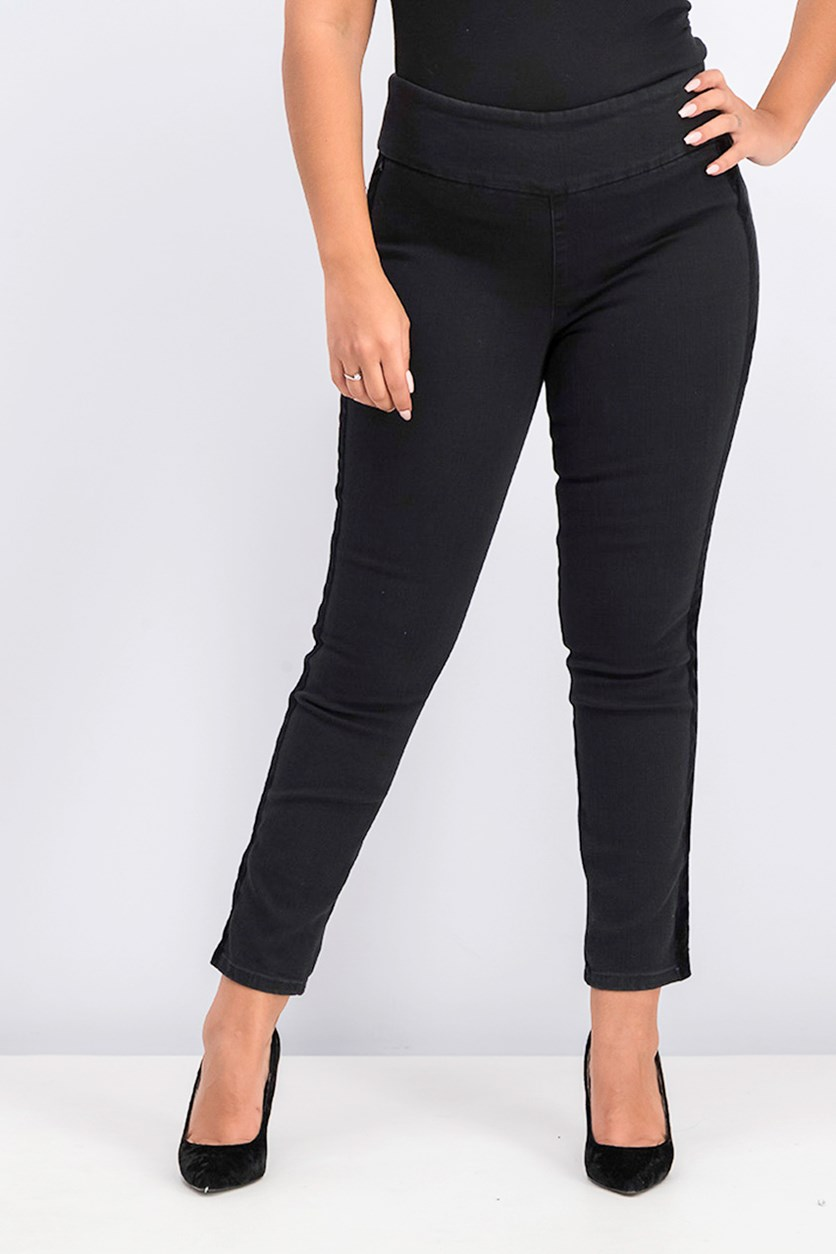 Pull on Ankle Length Jeans, Black