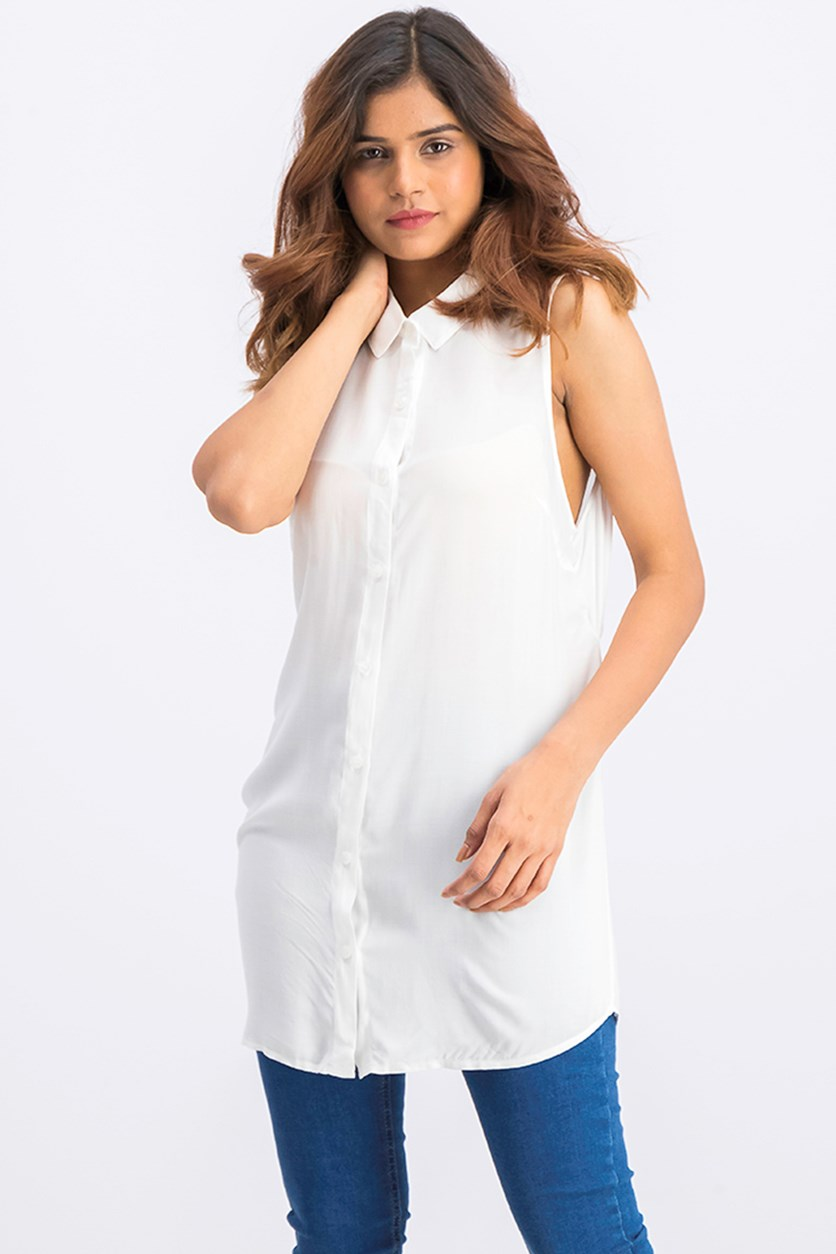 Tie-Back Top, Optic White