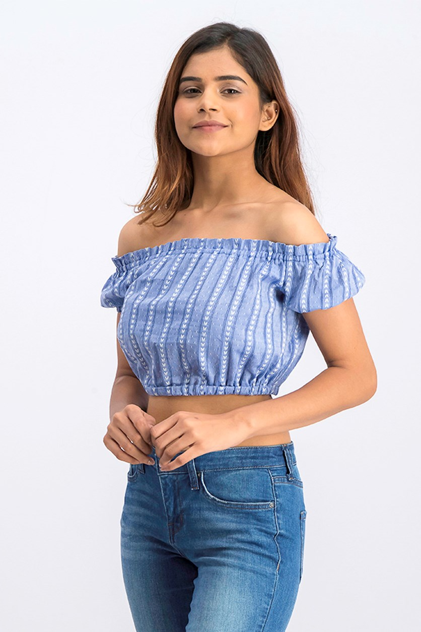 Women Crop Top, Blue