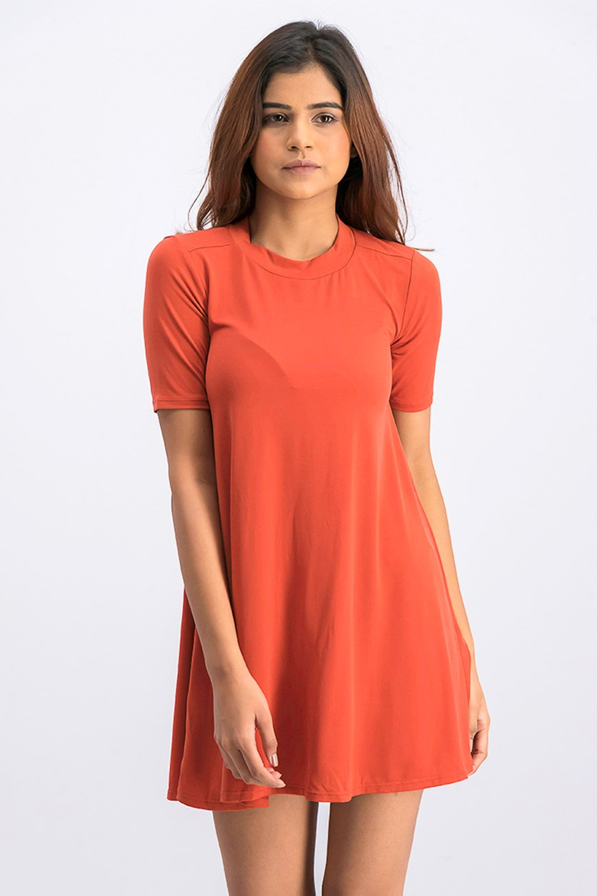 Women's Shirt Dress, Cinnabar
